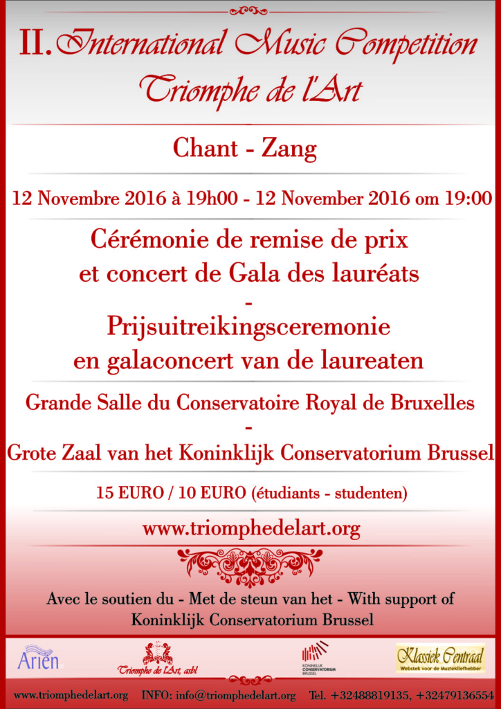 Gala concert of the 2nd International Music Competition Triomphe de l'Art in discipline Voice