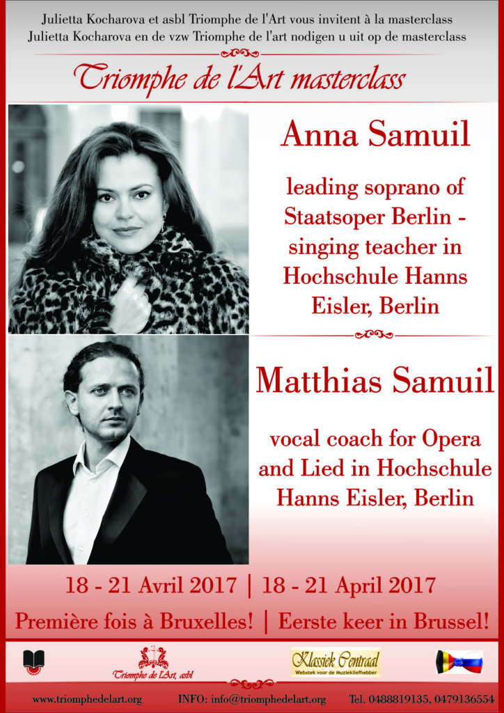 opera masterclass, Anna Samuil & Matthias Samuil