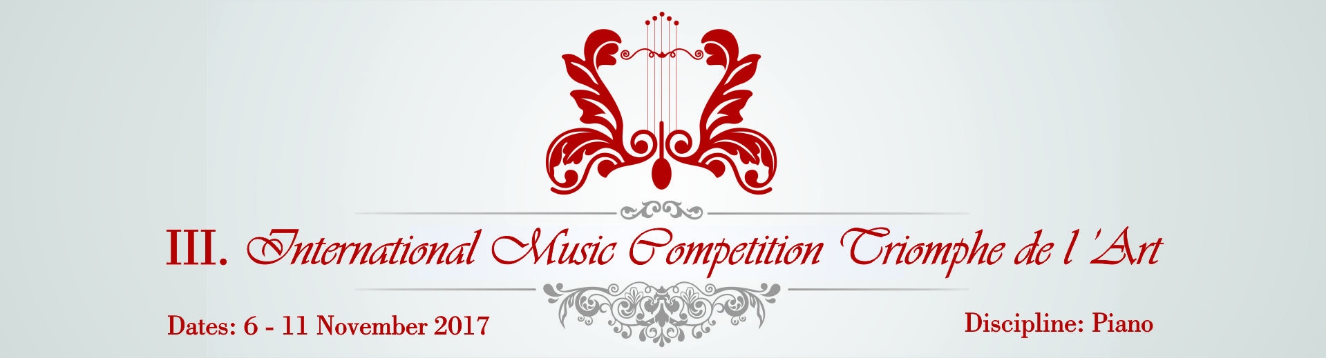 III. International Music Competition Triomphe de l'Art