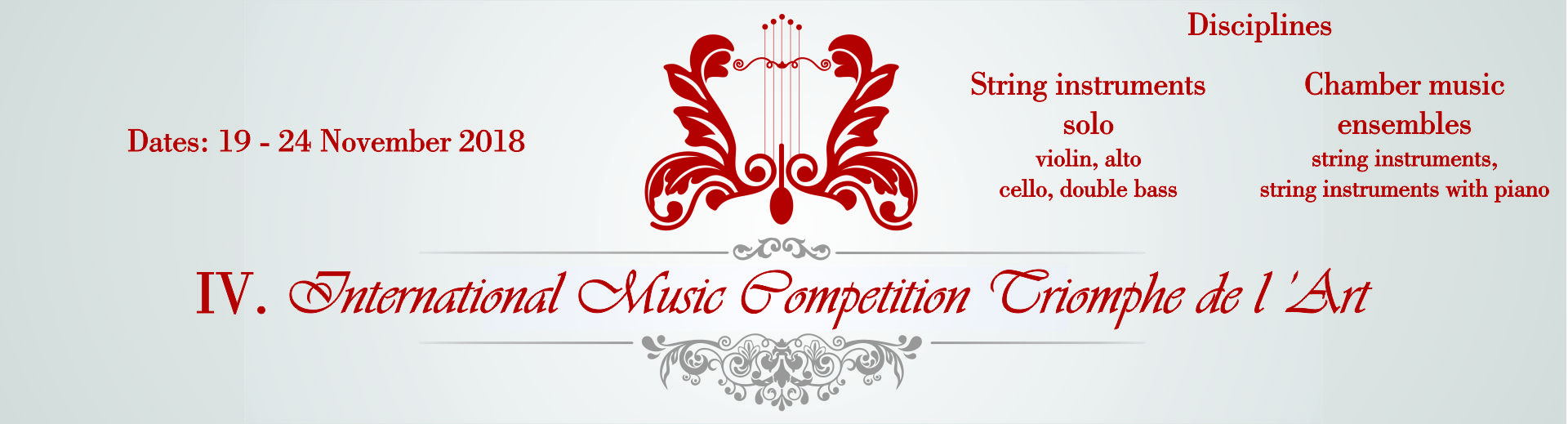 IV. International Music Competition Triomphe de l'Art
