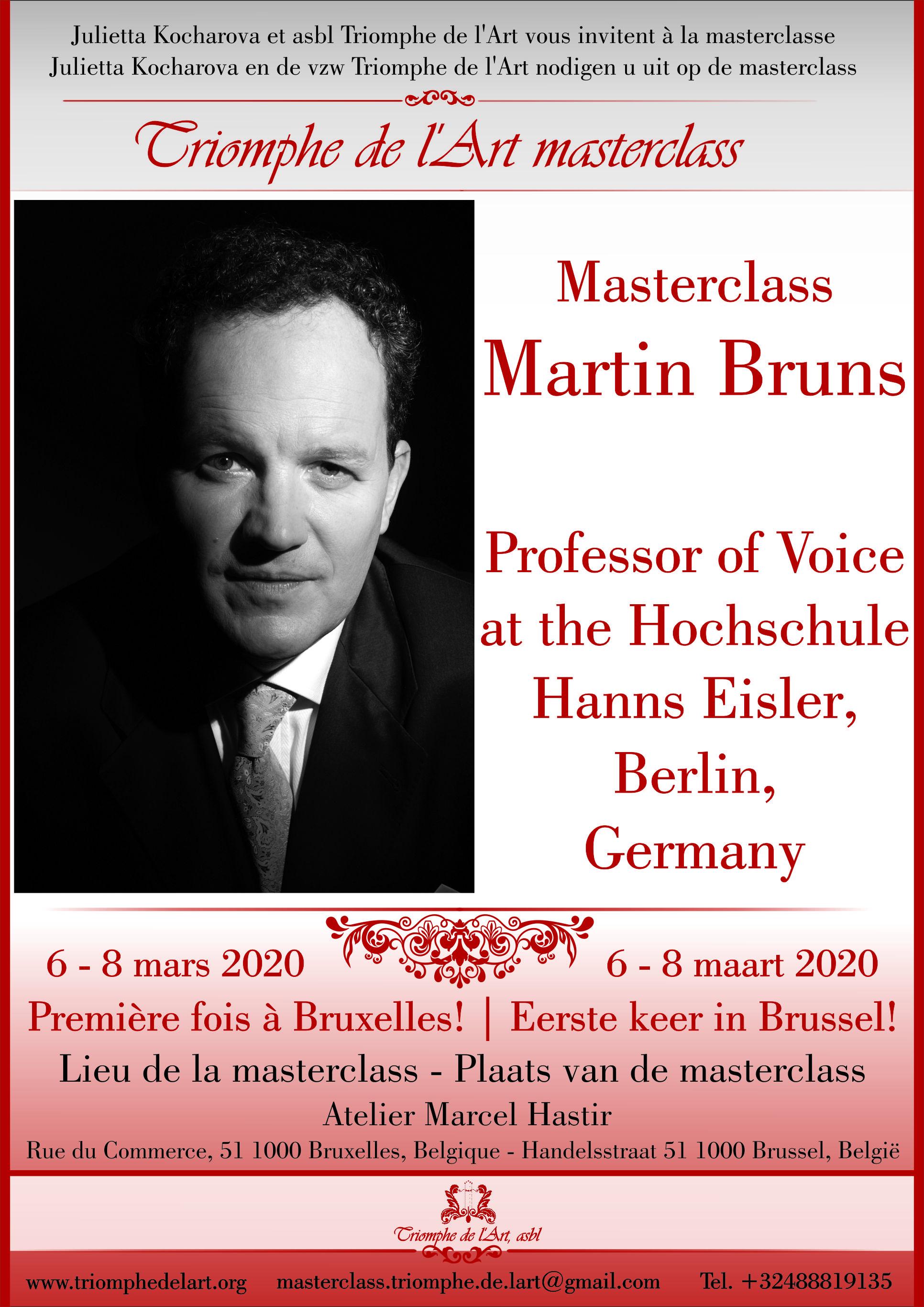 Martin Bruns voice masterclass 2020