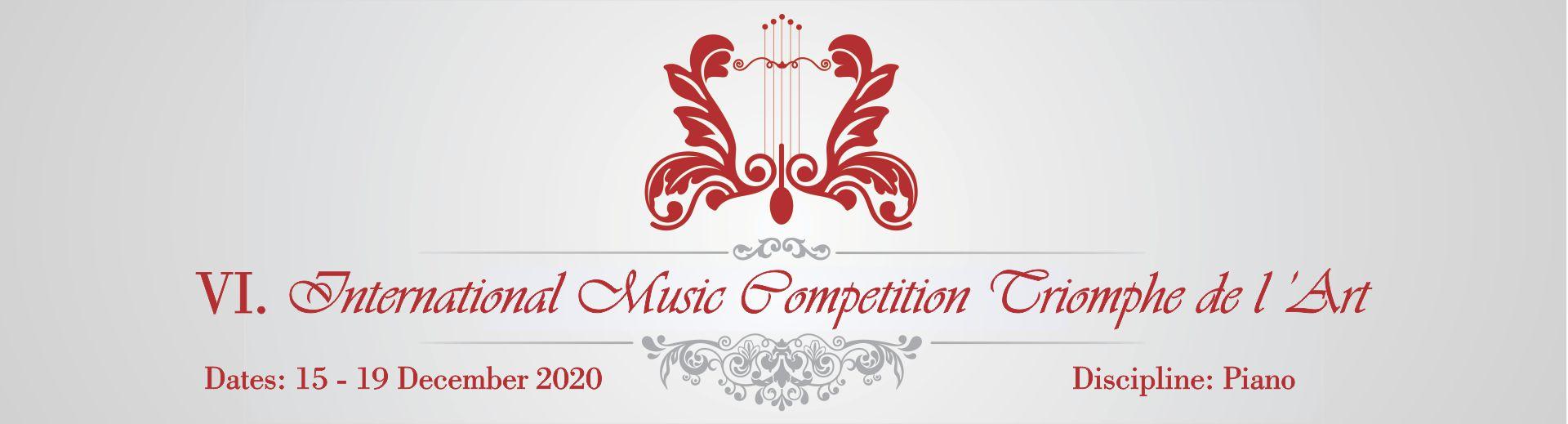 VI. International Music Competition Triomphe de l'Art