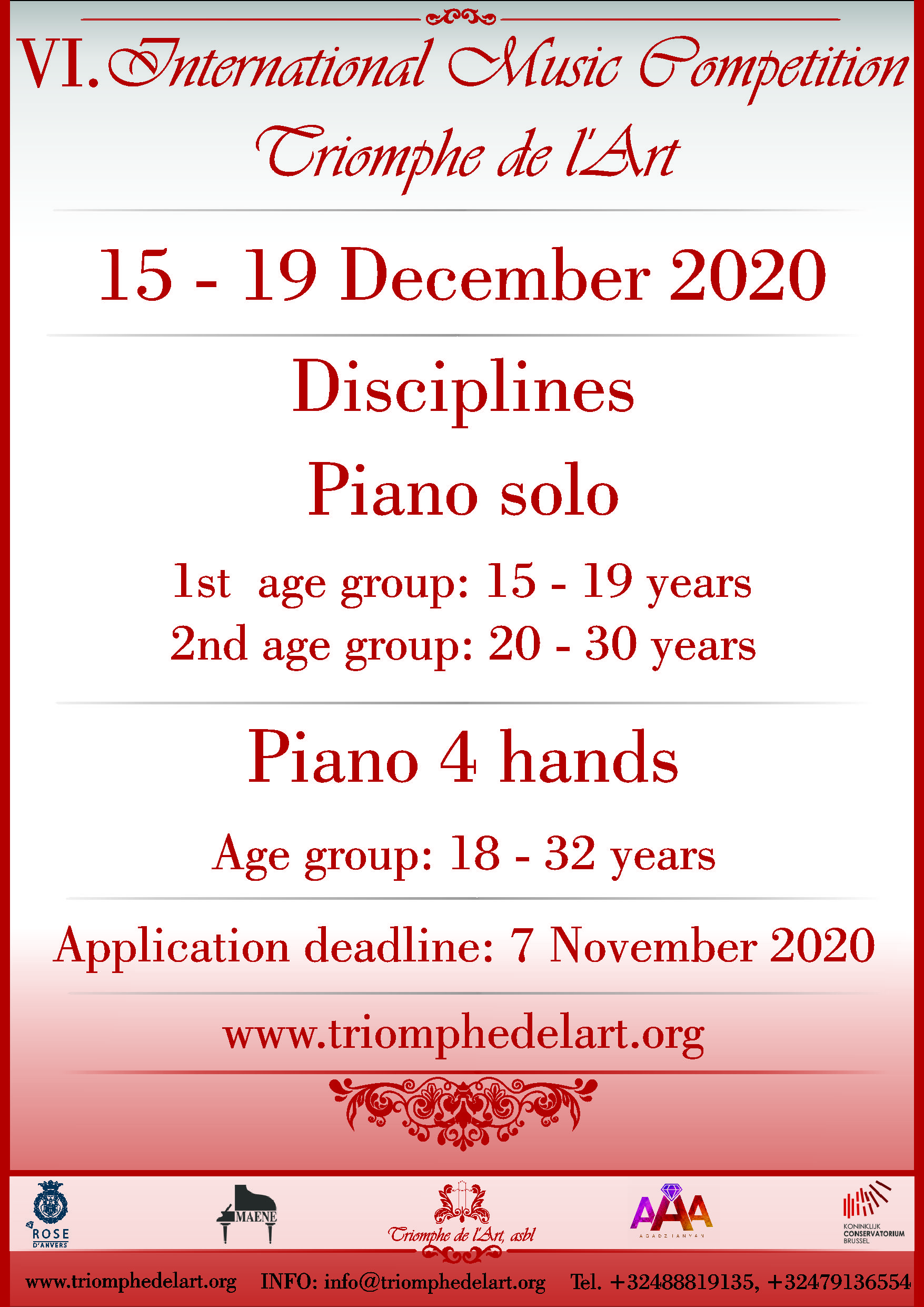 6th International Music Competition Triomphe de l'Art in discipline Piano