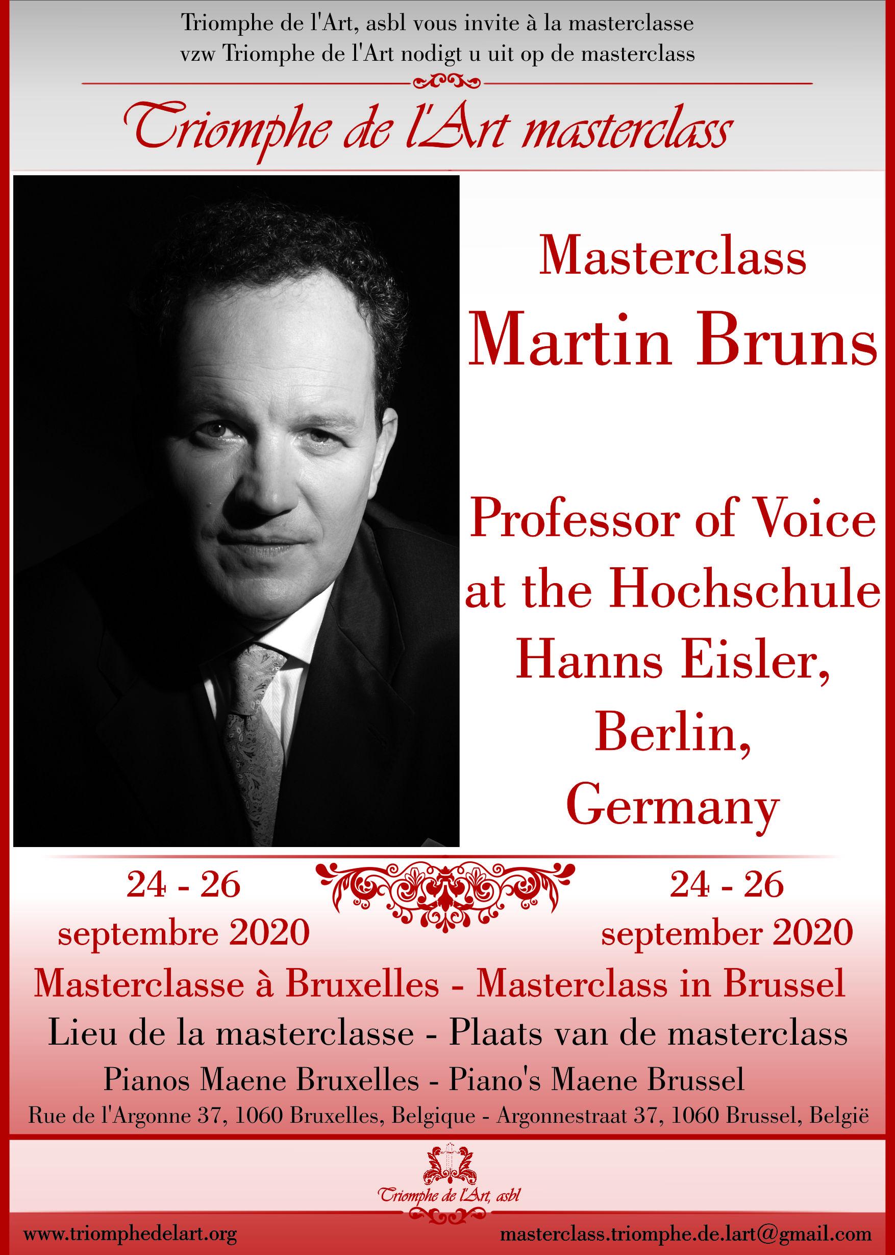 Martin Bruns voice masterclass september 2020
