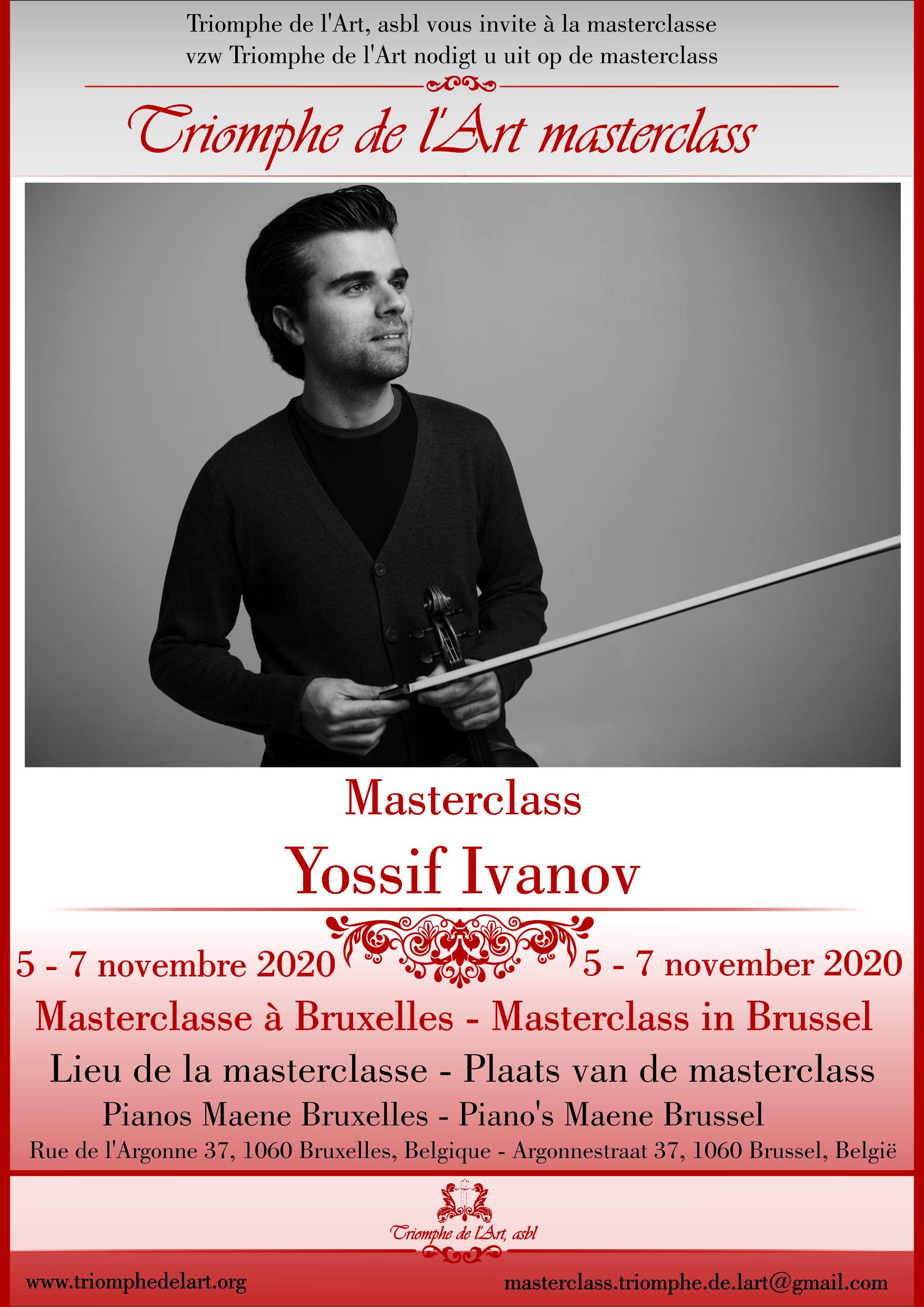 Yossif Ivanov violin masterclass 2020