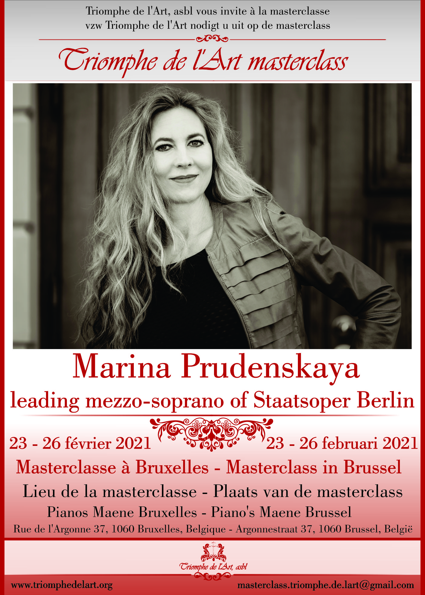 Opera and Lied masterclass Marina Prudenskaya 2021