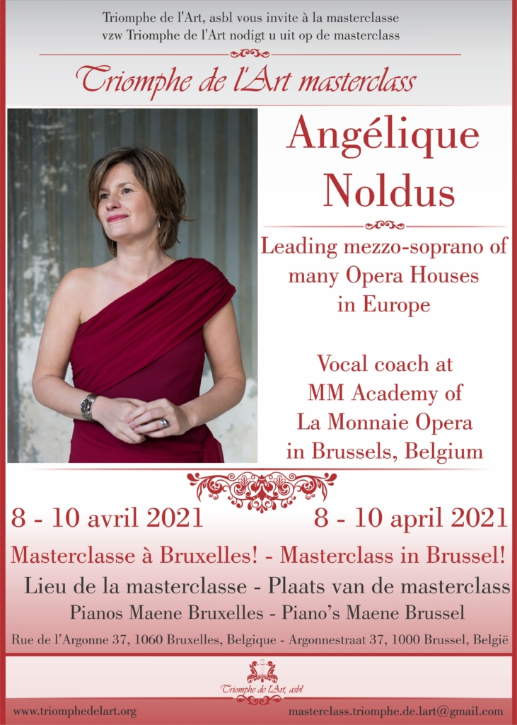 Angelique Noldus masterclasse avril 2021