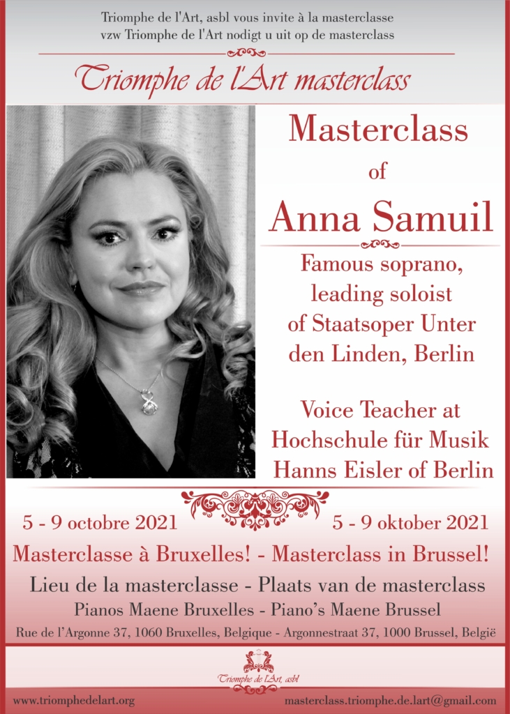 Anna Samuil vocal masterclass 2021
